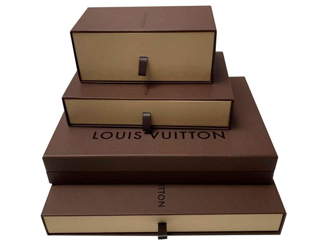 Louis Vuitton Lot of Louis Vuitton cardboard boxes all sizes Misc Other Brown ref.115927