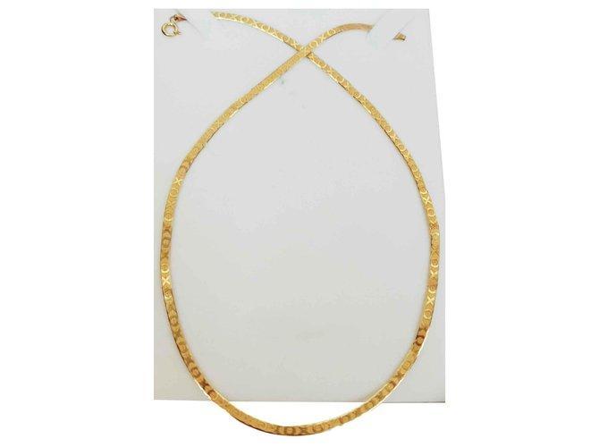 Autre Marque Golden chain 18 carat, snake pattern Necklaces Yellow gold Golden ref.116586