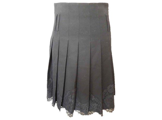 Burberry Skirts Skirts Wool Black ref.116694