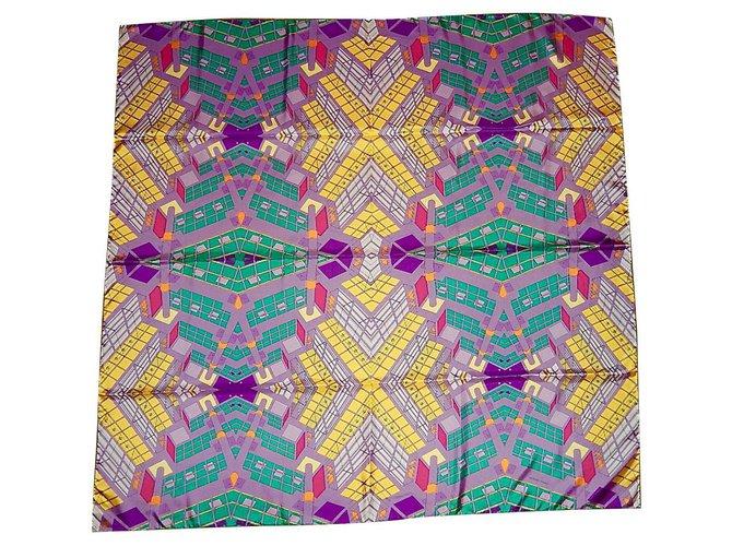 Hermès MIRROR WORKSHOPS Silk scarves Silk Multiple colors ref.116871