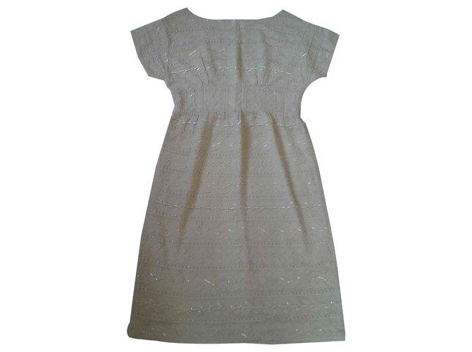 Antik Batik Dresses Cream Cotton Viscose  ref.116917