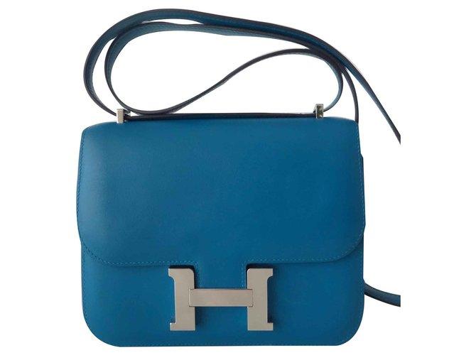 Sacs à main Hermès SAC CONSTANCE HERMES III Cuir Bleu ref.116977