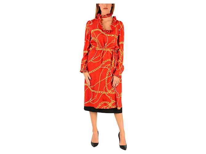 Robes Balenciaga Robe Balenciaga nouvelle Soie Rouge ref.117162
