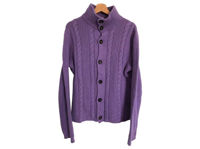 Etro Etro Purple Jumper Sweaters Cashmere,Wool Purple ref.117309