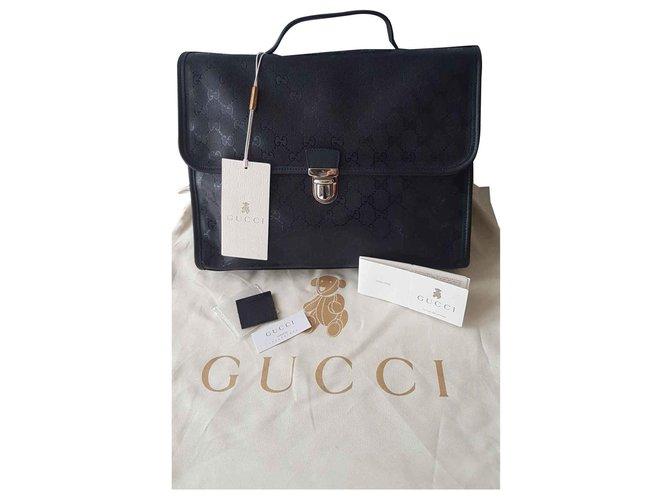Sacs, trousses Gucci Sacs Cuir Bleu Marine ref.117333