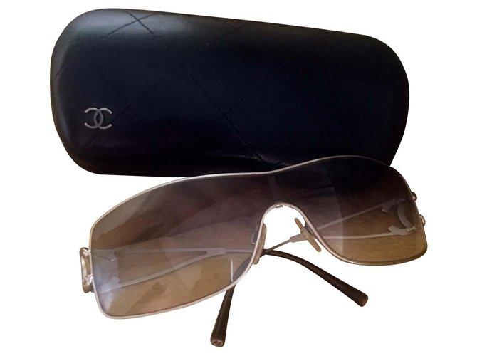 Chanel Mask Sunglasses Steel Silvery ref.117401