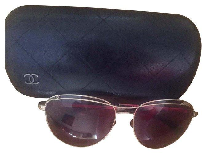 Chanel Chanel glasses Sunglasses Steel Golden ref.117403