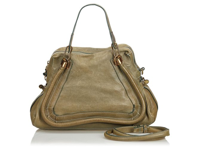 Chloé Chloe Brown Leather Paraty Satchel Handbags Leather,Other Brown ref.117452