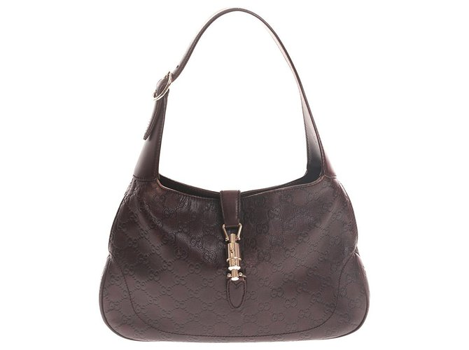 899628892 Gucci Gucci Brown Guccissima Leather Jackie Handbags Leather,Pony-style  calfskin Brown ref.