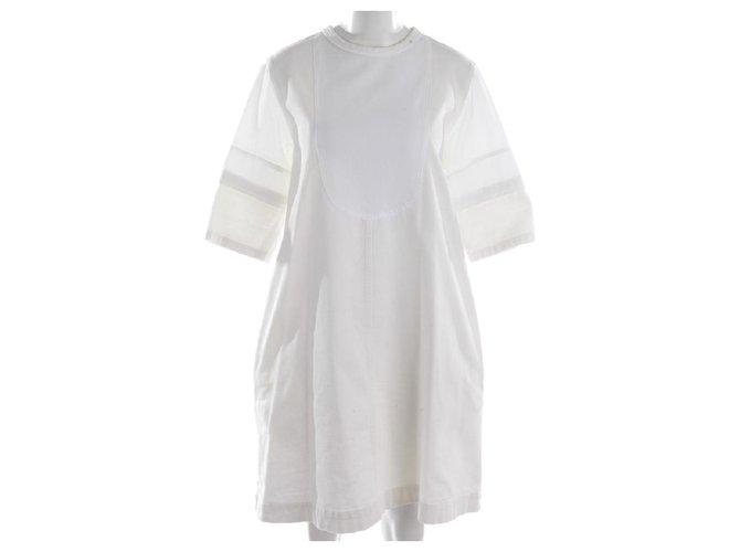 Chloé Dresses Dresses Cotton White ref.118576