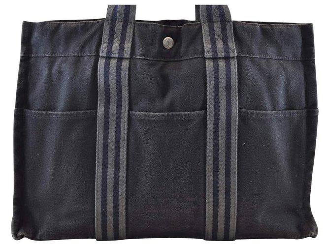 Hermès Hermès Fourre Tout Totes Cloth Black ref.118655