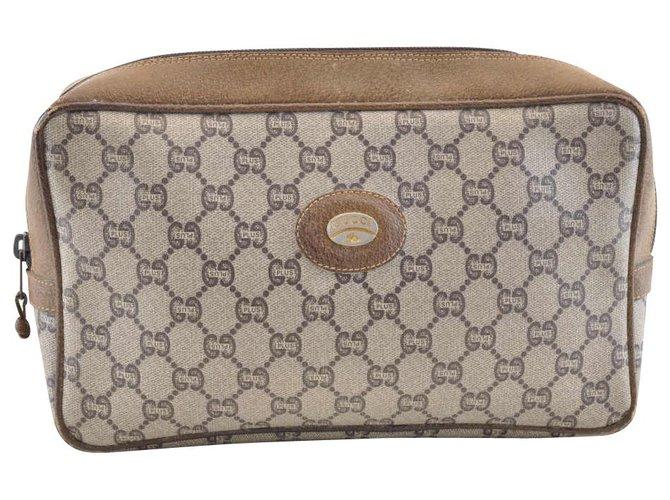 Pochettes Gucci Gucci Sherry Line GG Pochette Toile Marron ref.118661