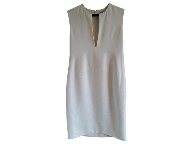 Céline New with defect Céline white sleeveless sheath dress. Dresses Viscose Cream ref.118881