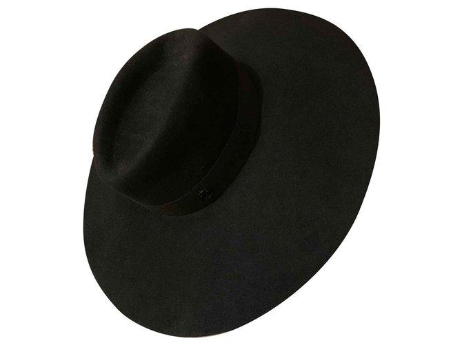 Maison Michel FARA Hats Acrylic Black ref.119065