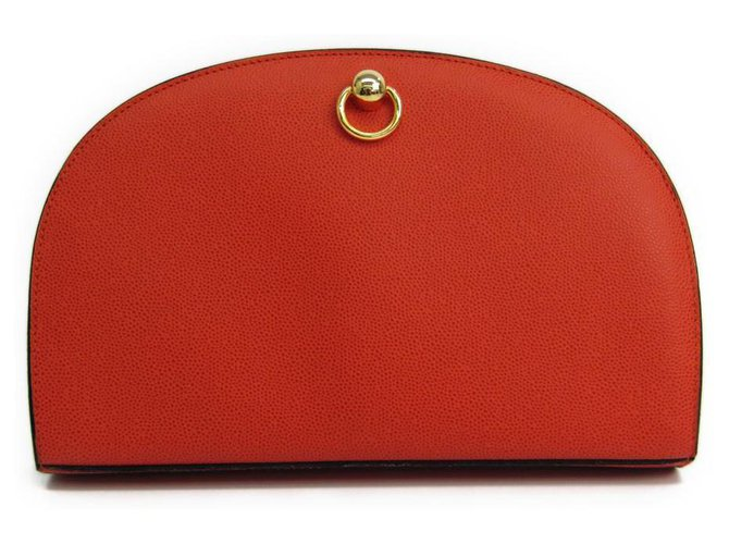 Céline Celine Red Leather Wallet Purses, wallets, cases Leather,Other Red ref.119205