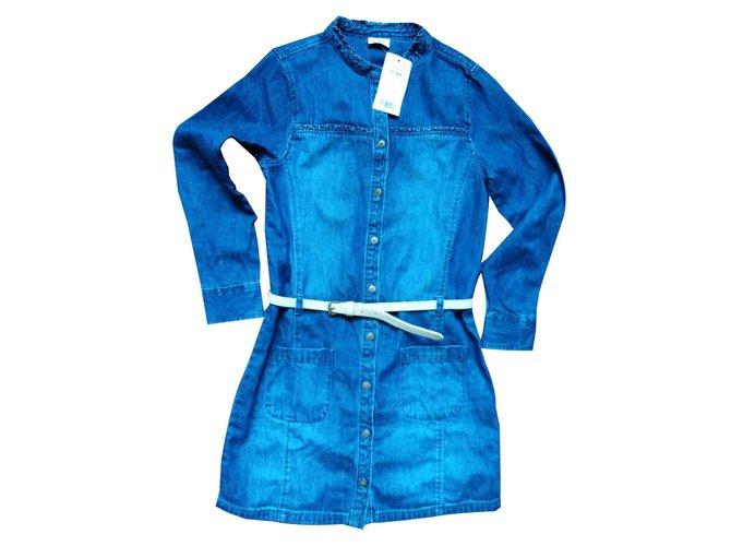 Autre Marque Tape a l oeil Dresses Cotton Blue ref.119629