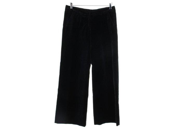 Pantalons Dries Van Noten Pantalons, leggings Velours,Coton Bleu Marine ref.119938