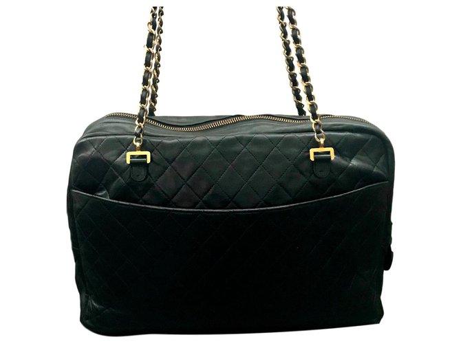 a0322f5bc8d9 Chanel Camera Handbags Lambskin Black ref.119952 - Joli Closet