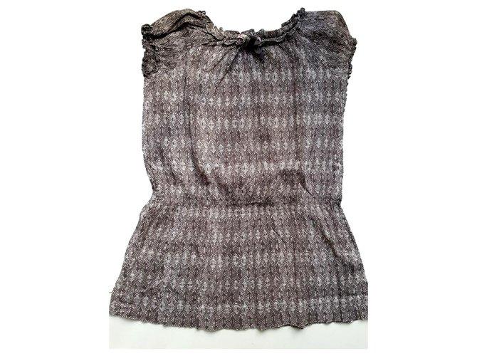 Robes fille Bonpoint Bonpoint - Robe d'été Coton Gris,Violet ref.119974