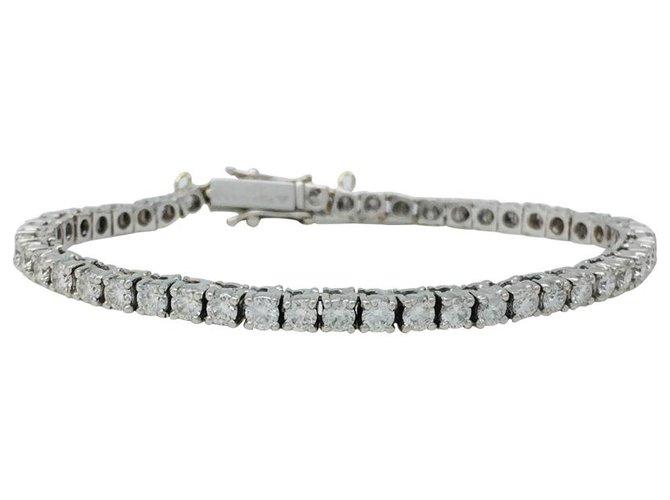 Bracelets Bracelet ligne diamants en or blanc, 3,62 carats. Or blanc,Autre Autre ref.120423