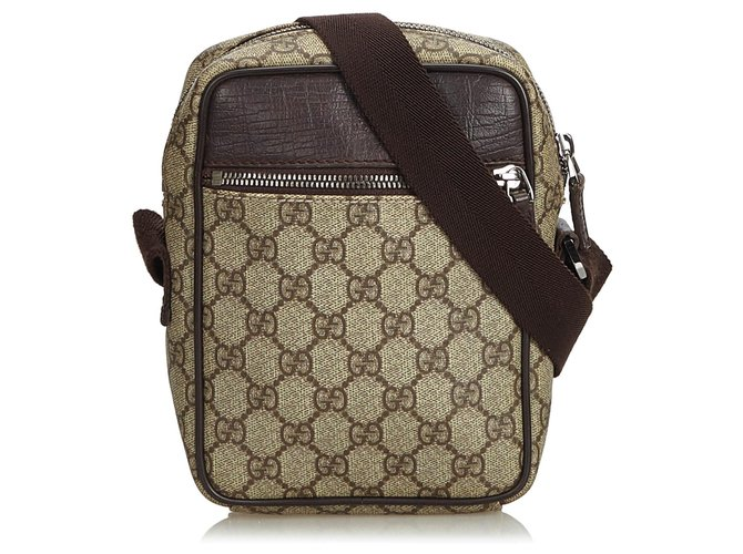 67a89684bdd Gucci Gucci Brown GG Supreme Crossbody Bag Handbags Leather