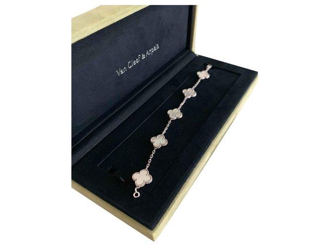 Bracelets Van Cleef & Arpels Bracelet vintage Alhambra Or blanc Blanc ref.120584