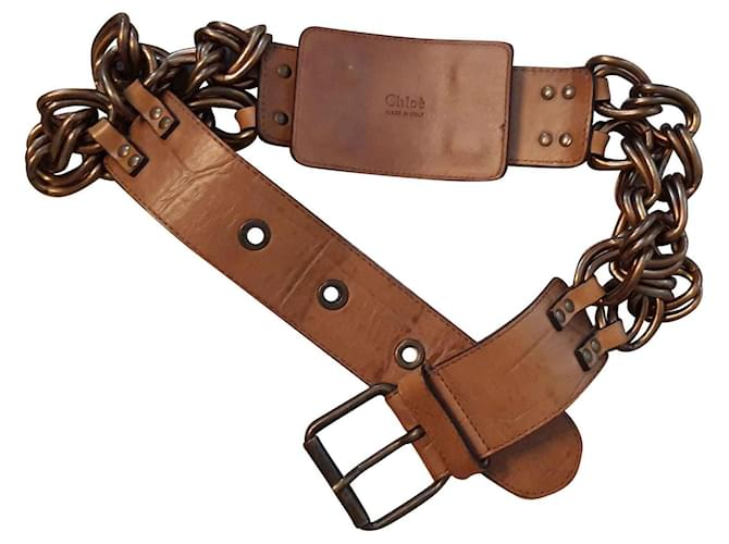 Chloé Belts Belts Leather Golden ref.120782