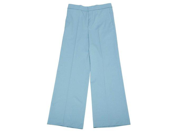 Chloé Pants, leggings Pants, leggings Wool Blue ref.120793