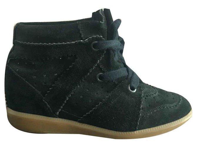 8221fc4098 Isabel Marant Sneakers Sneakers Leather,Deerskin Black ref.120819 ...