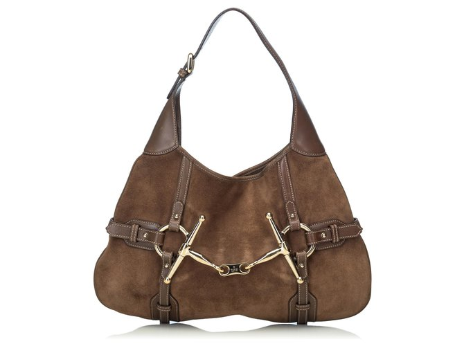 8331a77bdc3 Gucci Gucci Brown 85th Anniversary Leather Hobo Bag Handbags Suede ...