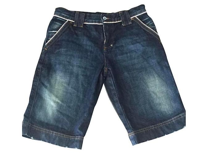 Dolce & Gabbana Girl Shorts Girl Shorts Denim Blue ref.121026