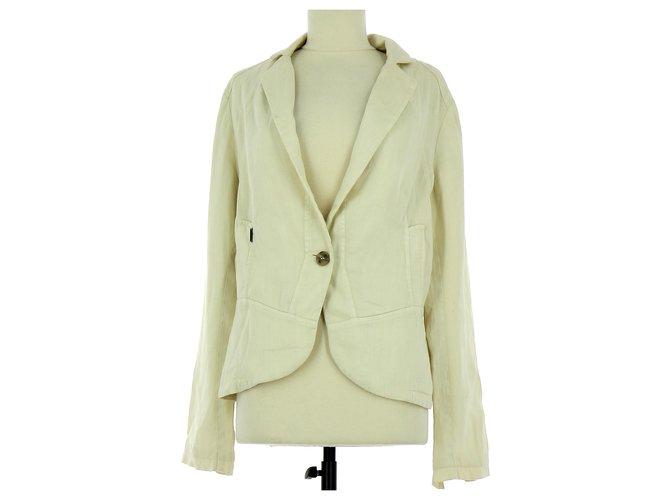 Ikks Vest Blazer Jackets Cotton Beige ref.121073 Joli Closet
