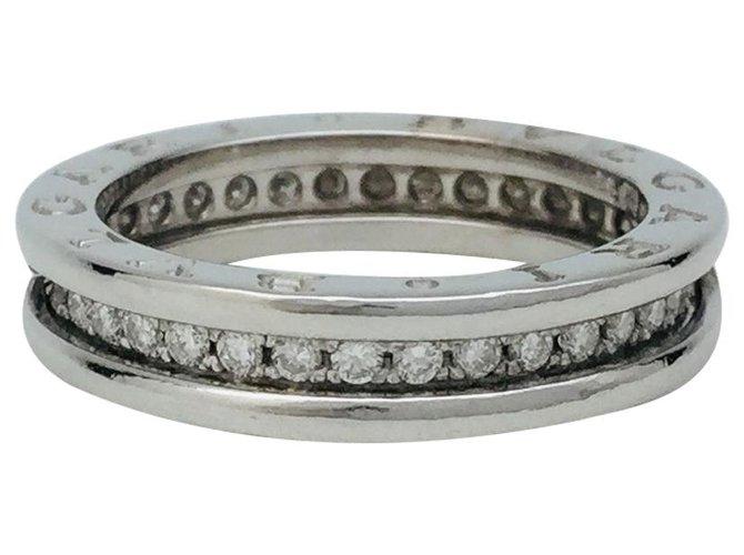 "Bagues Bulgari Bague Bulgari, ""B.Zero1"", or blanc et diamants. Or blanc,Autre Autre ref.121320"