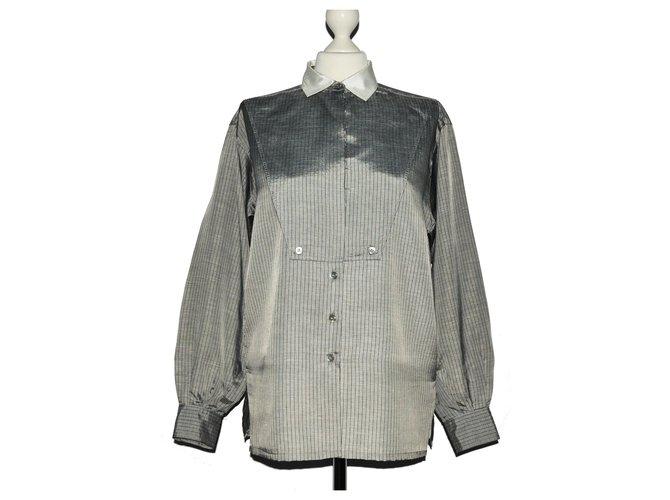 5879afc62ba002 Escada Tops Tops Silk,Polyester White,Grey ref.121518 - Joli Closet
