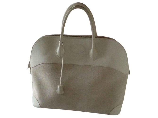 Hermès Bolide from HERMES Travel bag Leather White ref.121583