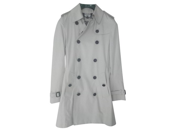 Burberry Trench Trench coats Cotton Cream ref.121665