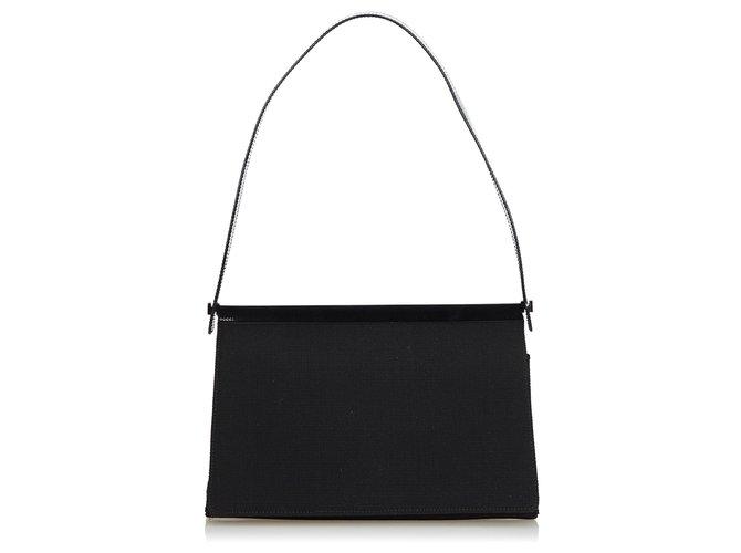 Sacs à main Gucci Gucci Sac à bandoulière en tissu noir Cuir,Autre,Tissu Noir ref.121796