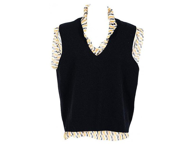 Tops Dries Van Noten Dries Van Noten top nouveau Laine Noir ref.121835
