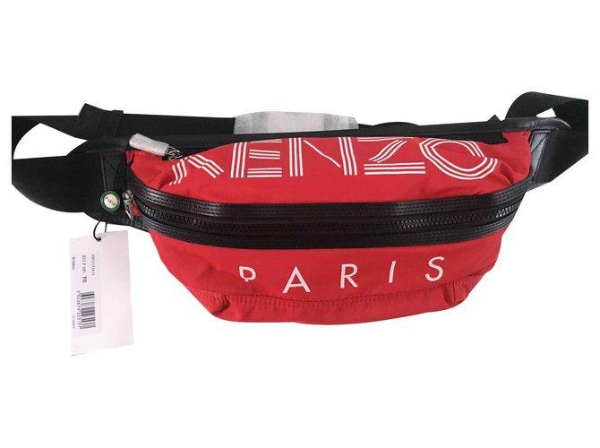 Kenzo Kenzo banana clutch Bags Briefcases Polyurethane Red ref.121879