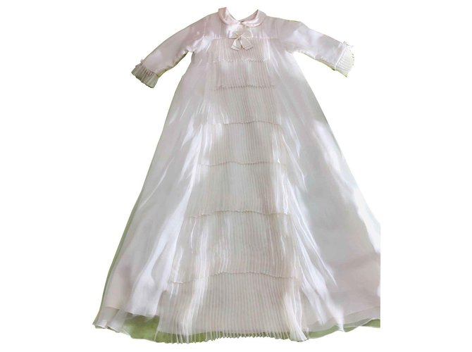 Baby Dior Christening ceremony dress Dresses Silk Eggshell ref.121880