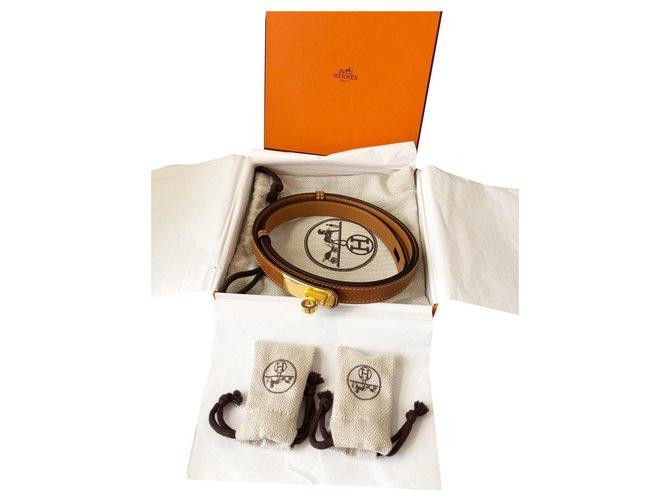 Hermès Hermes Belts Leather Caramel ref.121895
