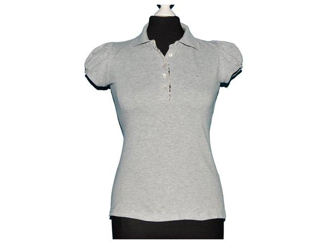 Burberry Tops Tops Cotton,Elastane Grey ref.121914