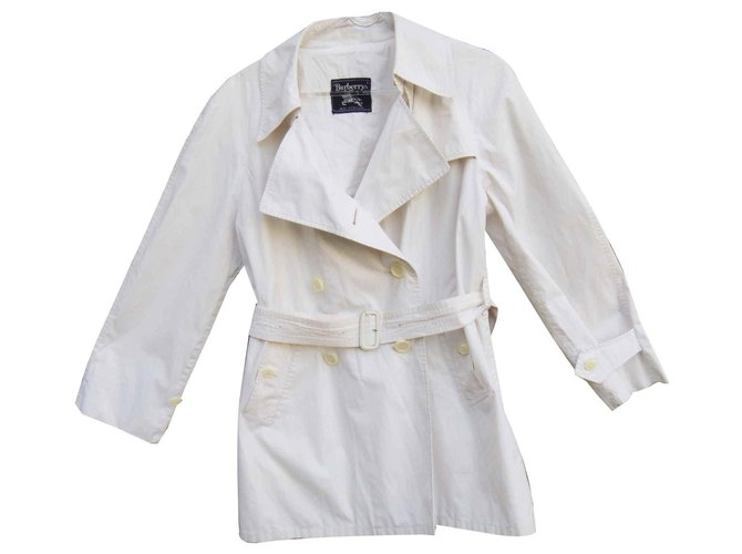 Burberry Burberry vintage summer trench Trench coats Cotton White ref.122132