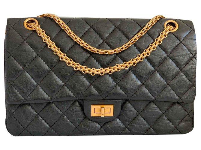 Sacs à main Chanel Reissue 2.27 Cuir Noir ref.122635