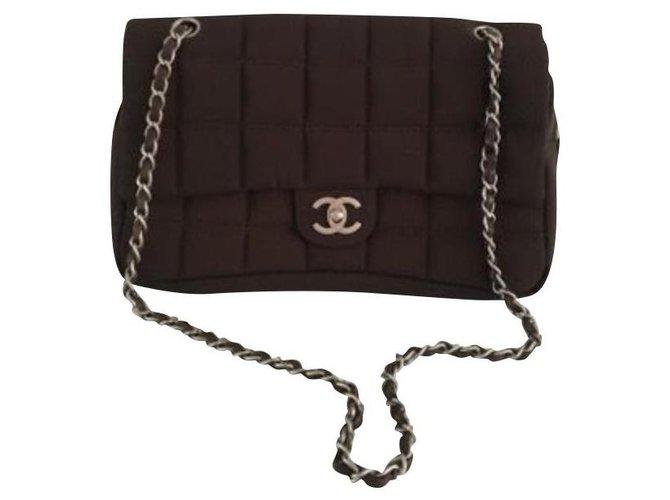 Chanel Chanel - Timeless - Brown Handbags Nylon Brown ref.122700