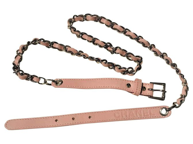 Chanel CHANEL Belt, Cruise Collection Belts Leather Pink ref.122813