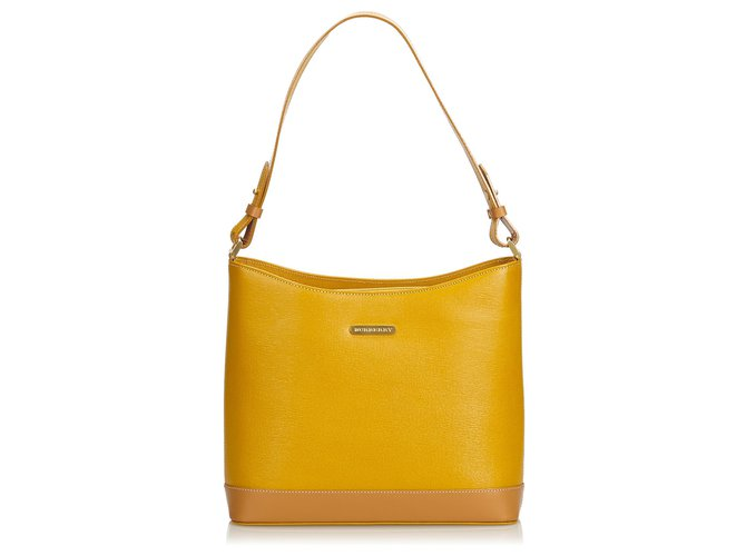 3f3f485e26bc Burberry Burberry Yellow Leather Shoulder Bag Handbags Leather