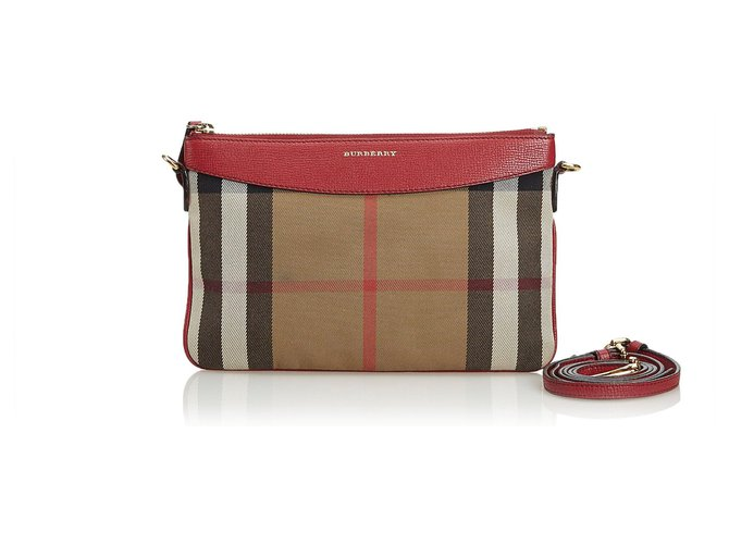 2685dd115ff2 Burberry Burberry Brown House Check Jacquard Crossbody Bag Handbags  Leather