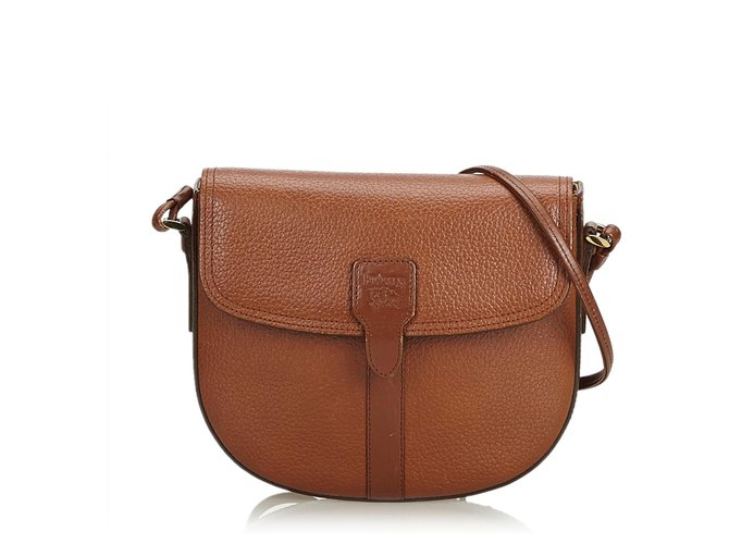 aad1ea812b3 Burberry Burberry Brown Leather Crossbody Bag Handbags Leather,Other Brown  ref.122910