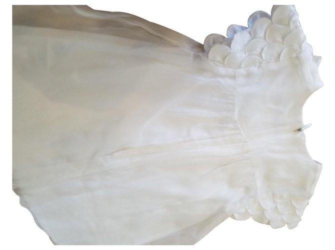 Robes fille Chloé Chloé France. Soie,Coton Blanc cassé ref.122997